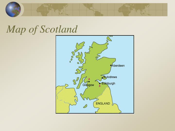 Map of scotland