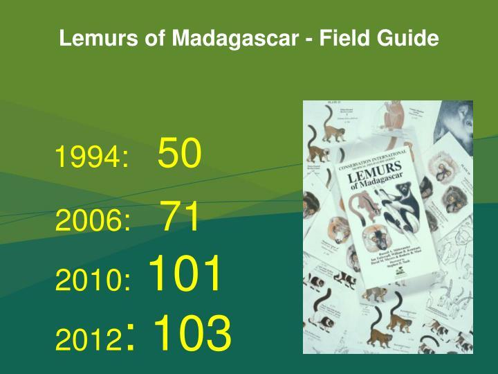 Lemurs of Madagascar - Field Guide