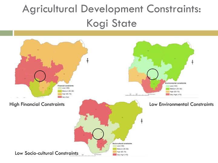 Agricultural Development Constraints: