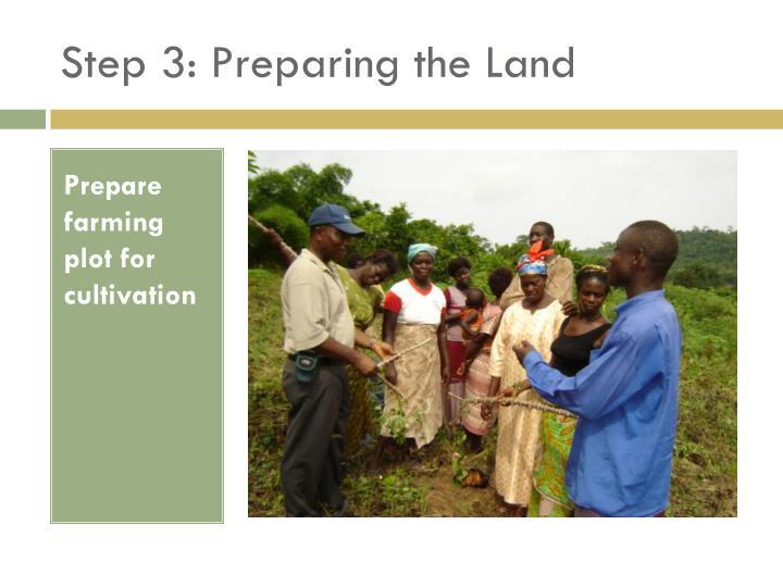 Step 3: Preparing the Land