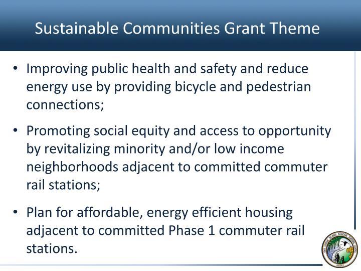 Sustainable Communities Grant