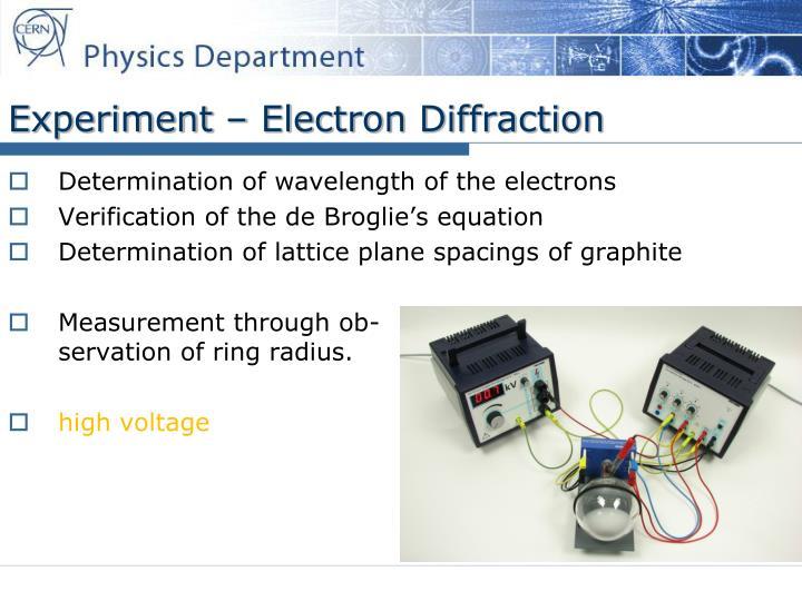 Experiment – Electron Diffraction