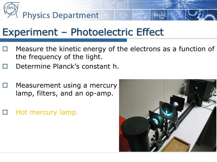 Experiment – Photoelectric Effect