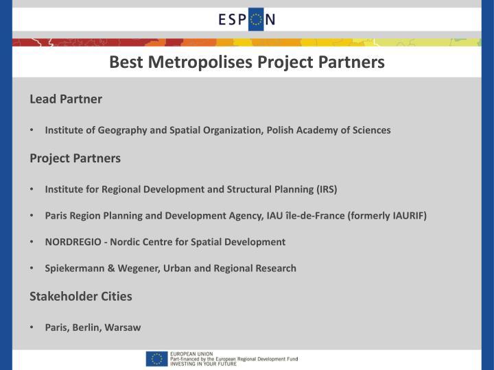 Best Metropolises Project