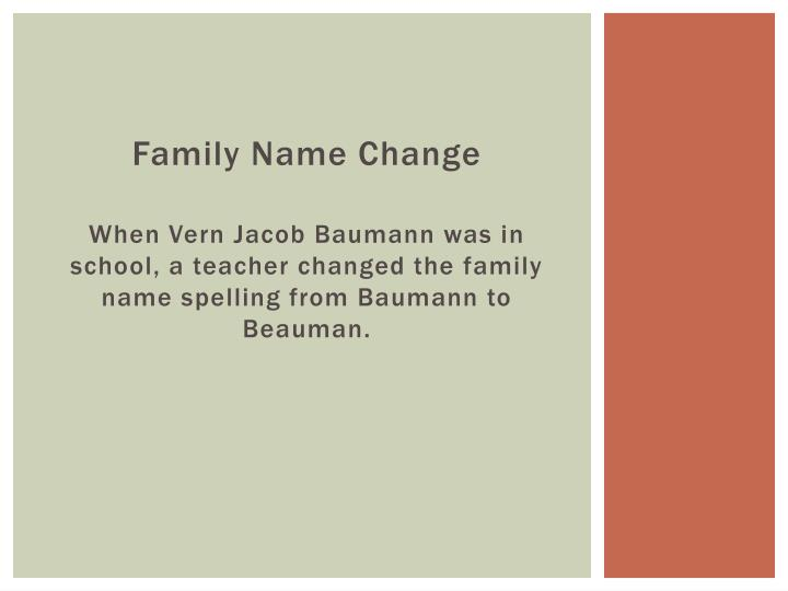 Family Name Change