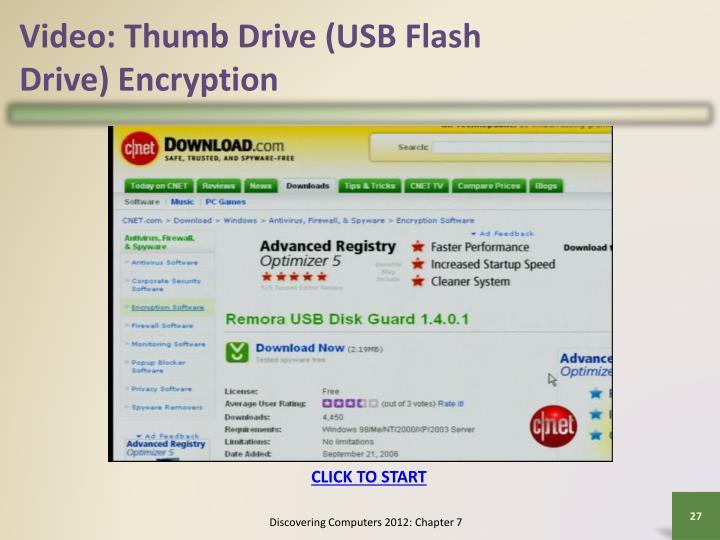 Video: Thumb Drive (USB Flash