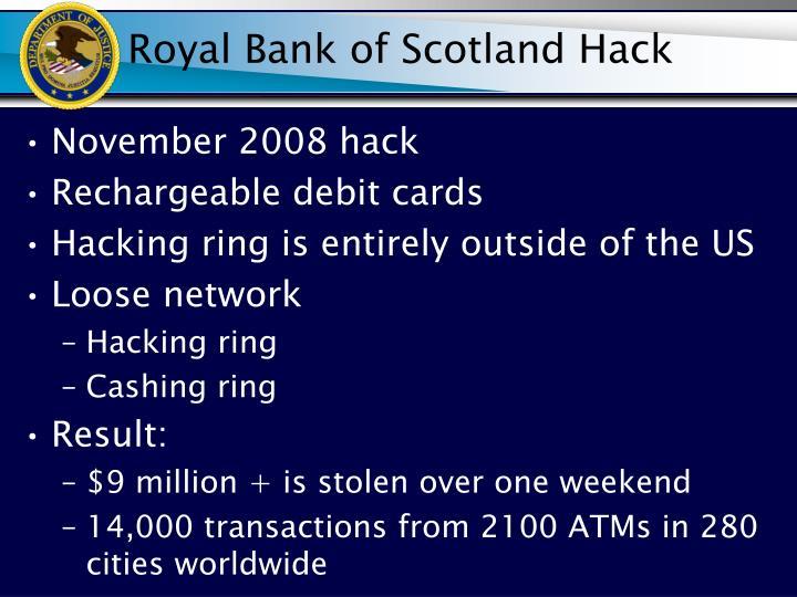Royal Bank of Scotland Hack