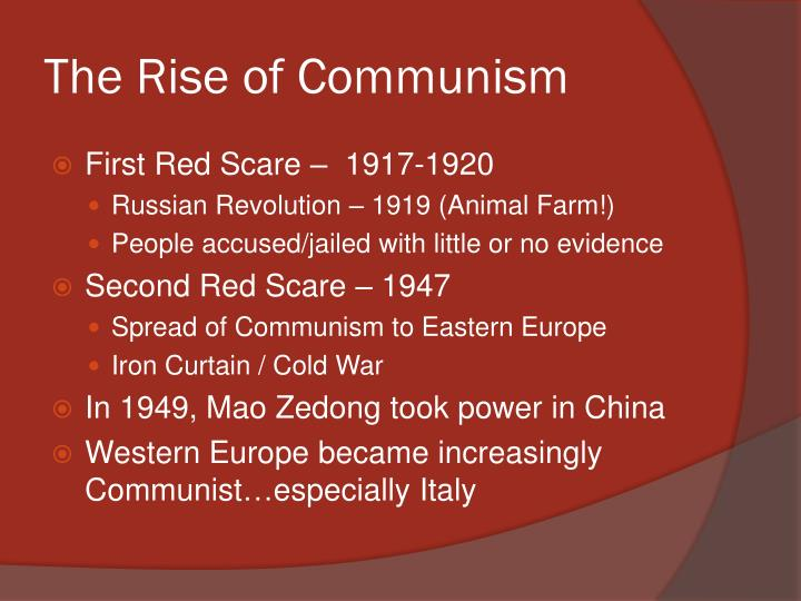the rise of communist power in china Communist propaganda spread in china during this march to the north if the warlord situation hadn't been prevalent, perhaps communist ideas would  , the communist leader, did not initially believe that peasants could lead the revolution in china, he said later: peasants will rise  needed their.