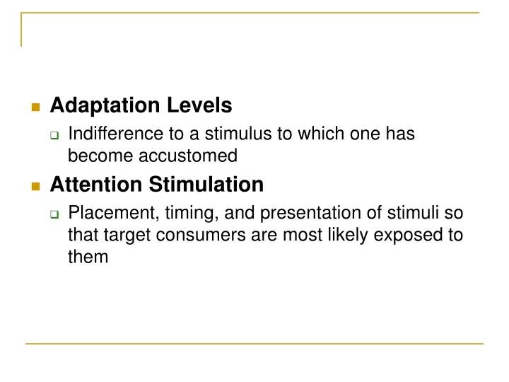 Adaptation Levels