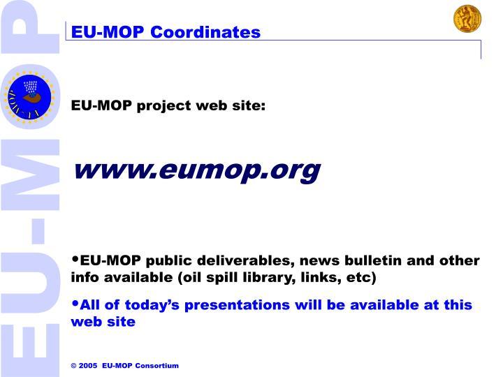 EU-MOP Coordinates