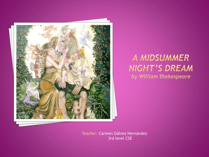 an analysis of women in midsummer nights dream by william shakespeare