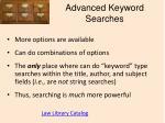 advanced keyword searches