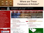 where are these databases of articles