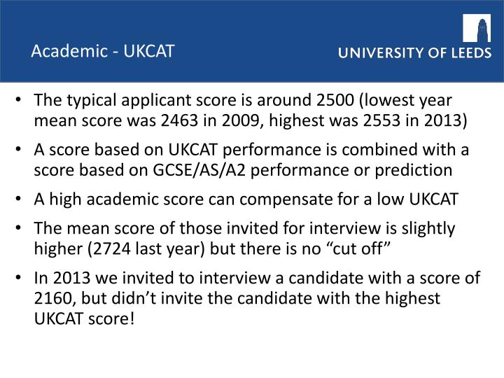 Academic - UKCAT