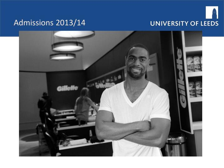 Admissions 2013/14