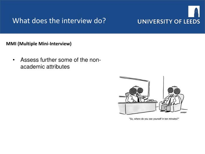 What does the interview do?