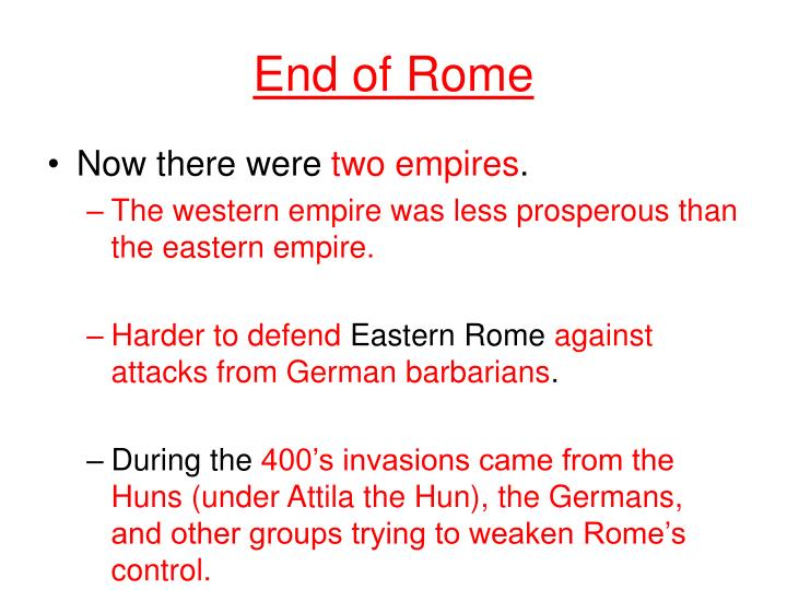 End of Rome
