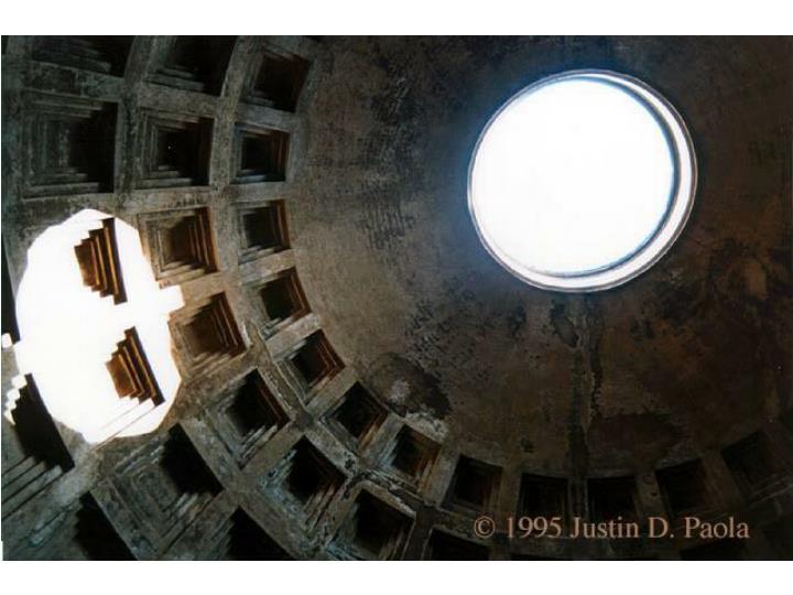 Pantheon skylight