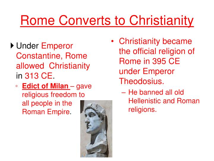 Rome Converts to Christianity