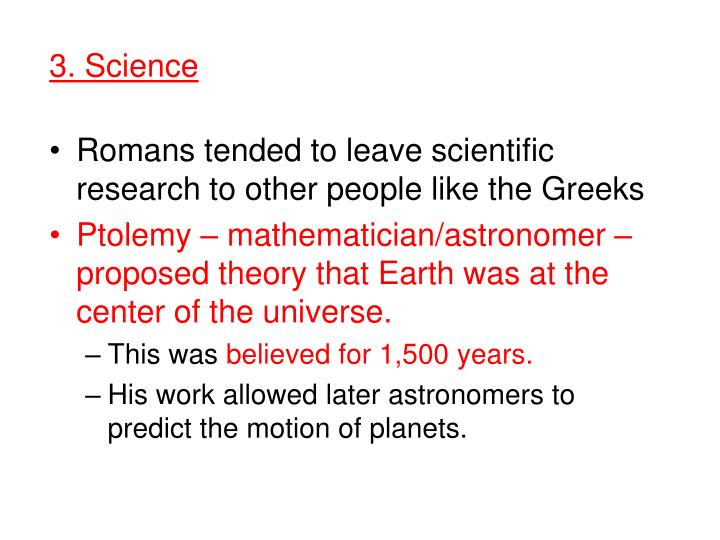 3. Science