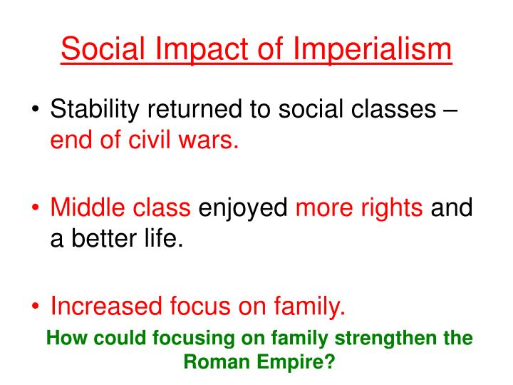 Social Impact of Imperialism