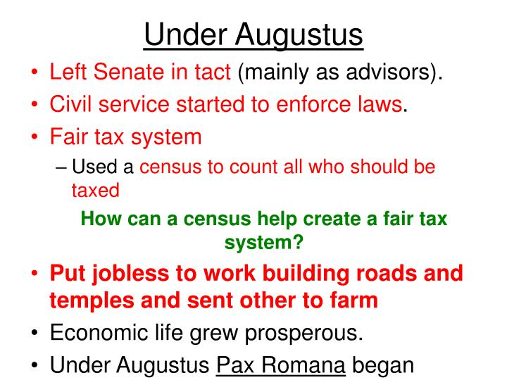 Under Augustus
