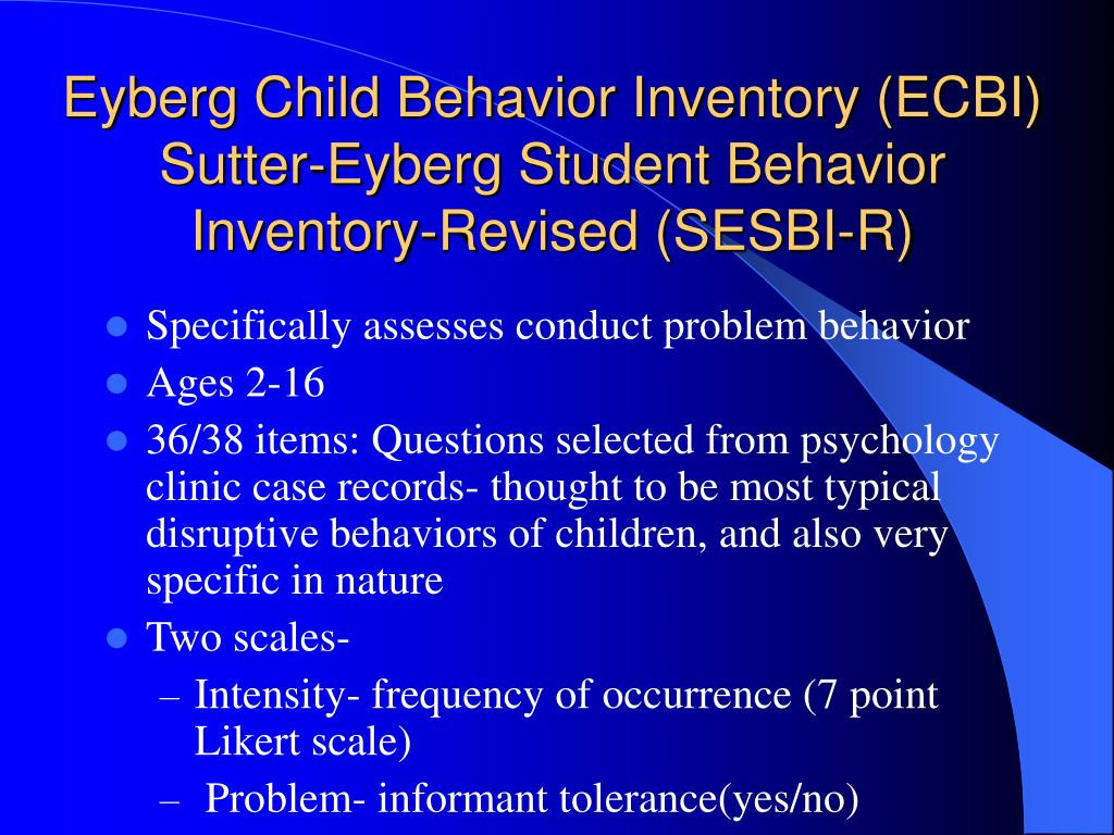 PPT - Behavioral & Personality Assessment PowerPoint