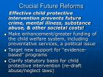 crucial future reforms