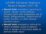 ija aba standards relating to abuse neglect 1977 78