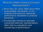 what are states doing to enhance representation