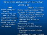 what child welfare court intervention looks like