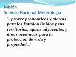 misi n servicio nacional meterologia