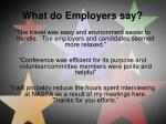 what do employers say