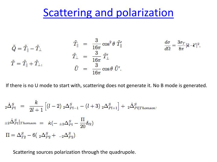Scattering and polarization
