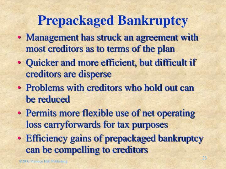 Prepackaged Bankruptcy