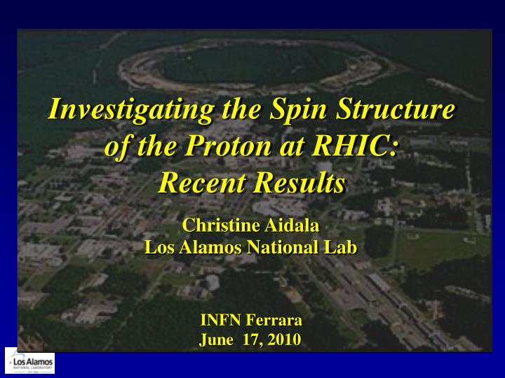 investigating the spin structure of the proton at rhic recent results n.