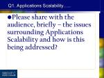 q1 applications scalability