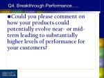 q4 breakthrough performance