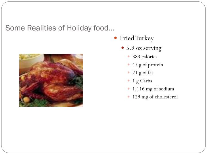 Some realities of holiday food