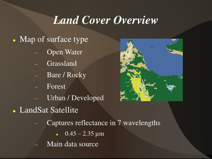Land cover overview