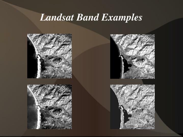Landsat band examples