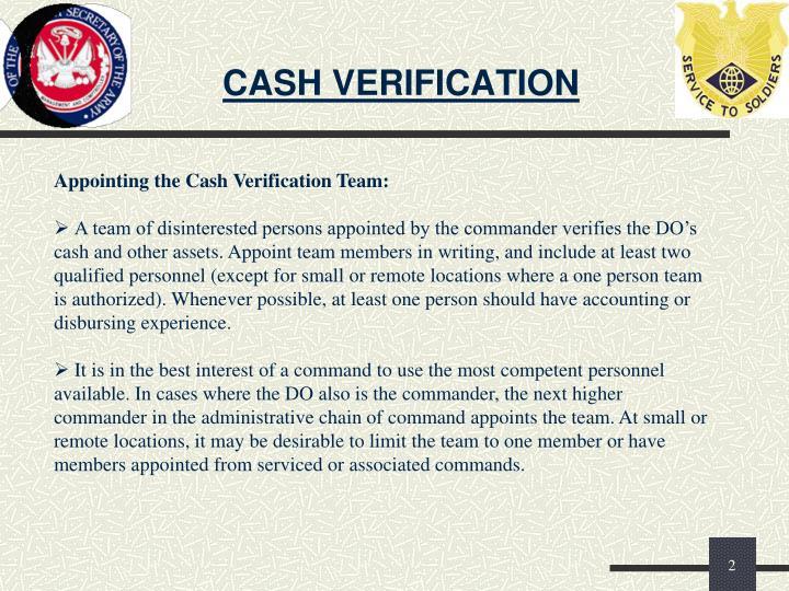 Cash verification1