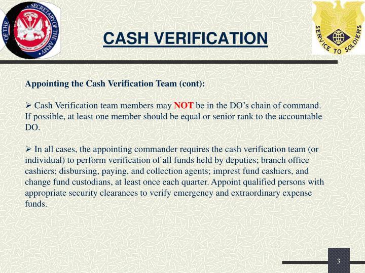 Cash verification2