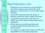 map projections ctd