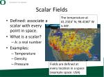 scalar fields
