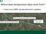 where does temperature data come from