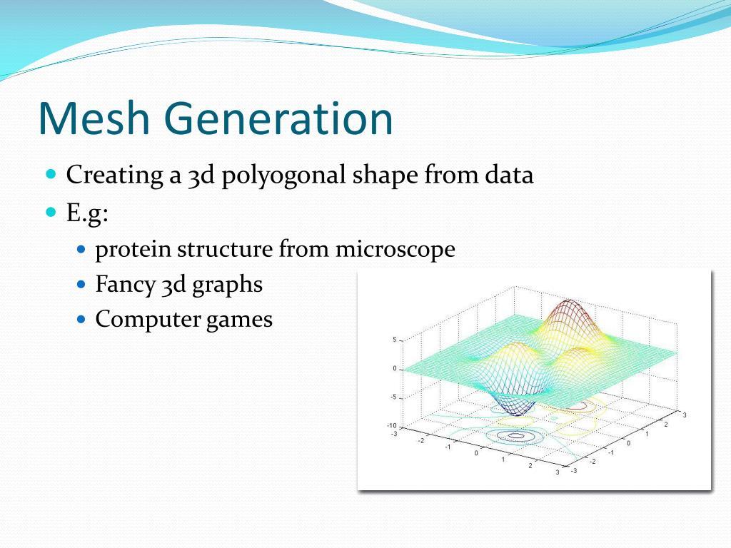 PPT - Mesh generation + Delaunay Triangulation PowerPoint