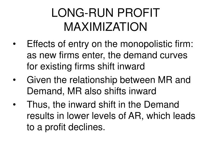 profit maximization hypothesis In the theory of the firm, the behavior of any business entity is said to be driven by  profit maximization this theory governs decision making in a variety of areas.