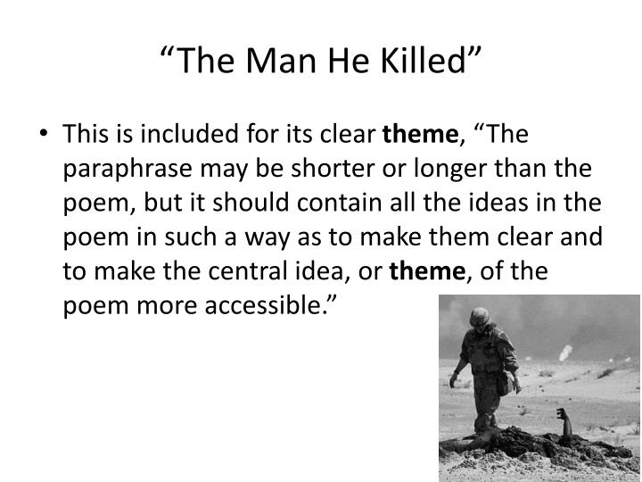 the man he killed poem theme