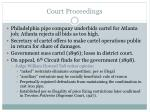 court proceedings